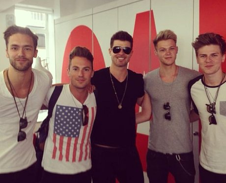 Lawson with Robin Thicke