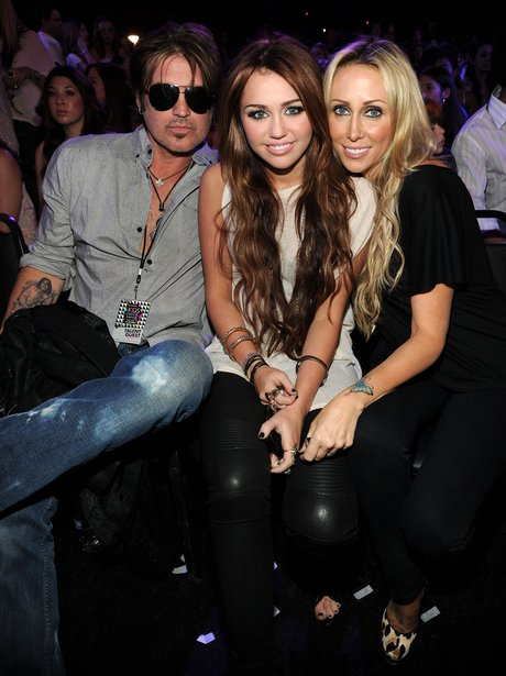 Miley Cyrus and Parents