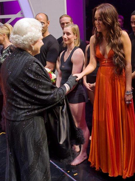 Miley Cyrus at the Royal Variety Performance