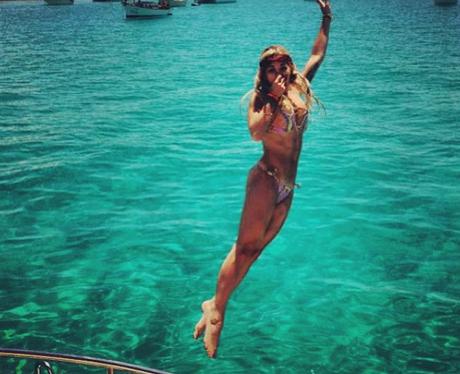 Rita Ora Diving