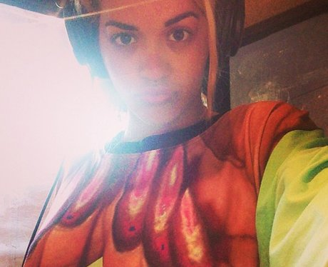 Rita Ora selfie on instagram