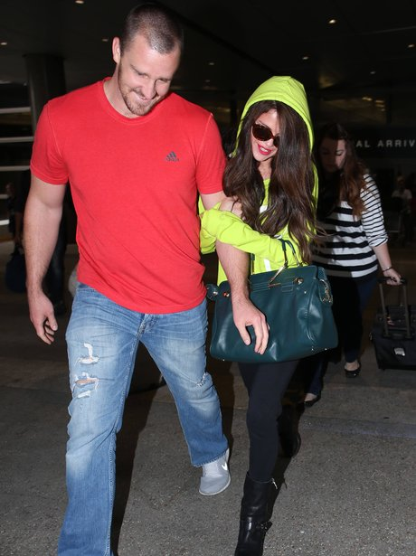 Selena Gomez Brian Teefey LAX Airport