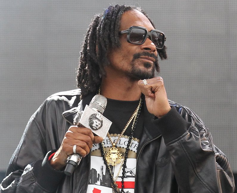 Snoop Dogg on stage at T in the Park 2013