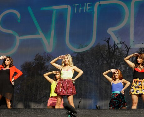 The Saturdays live on stage