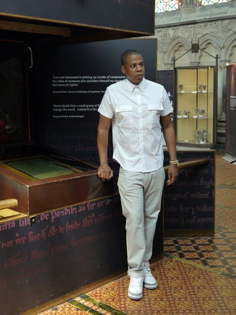 Jay Z checks outside original Magna Carta