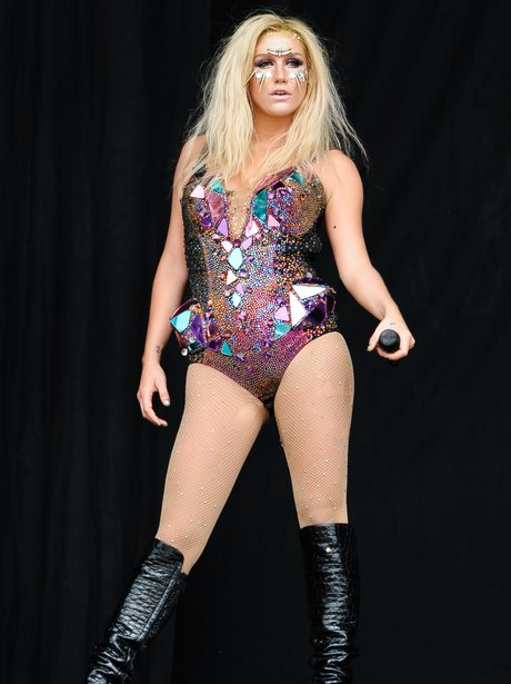 Ke$ha performing on tour