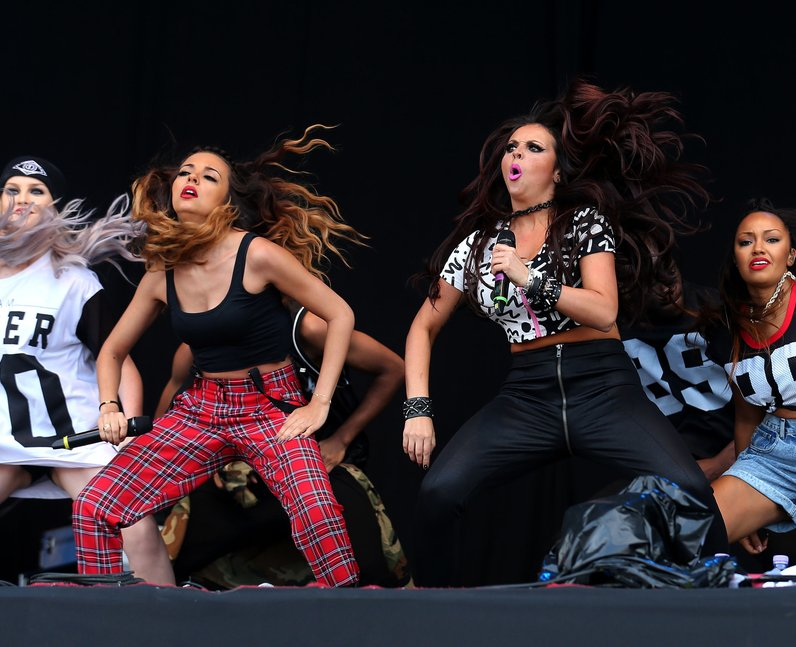 Little Mix on stage at T in the Park 2013
