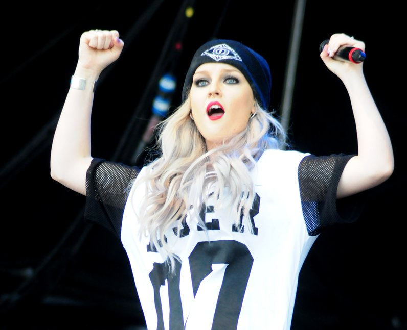 Little Mix Perrrie on stage at T in the Park 2013