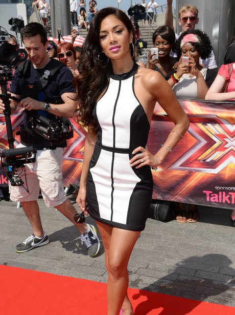 Nicole Scheriznger at the x factor auditions