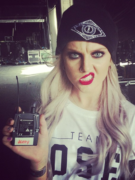 Perrie Edwrads shares a backstage picture