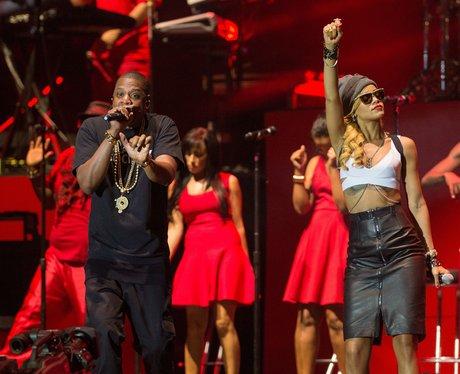 Rihanna and Jay-Z on stage