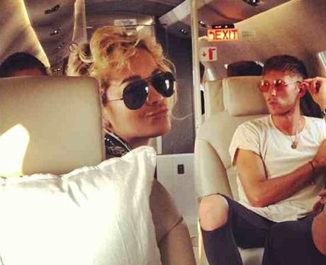Rita Ora on a plane