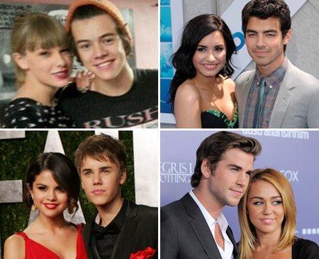 Taylor Swift, Demi Lovato, Selena Gomez and Miley