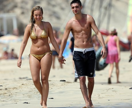 Tom Parker and girlfirend Kelsey on holiday