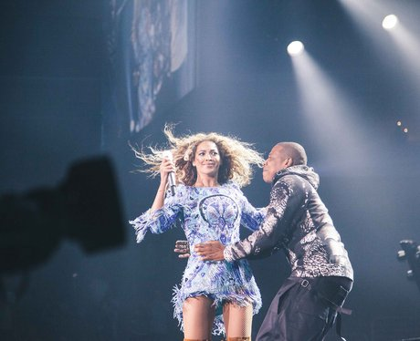 Beyonce And Jay-Z live on stage