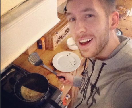 Calvin Harris cooking