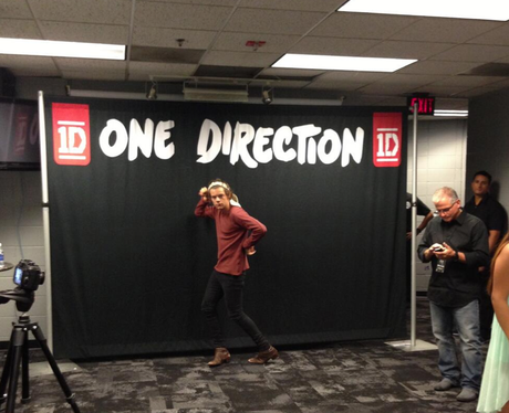 Harry Styles poses on the band's tour