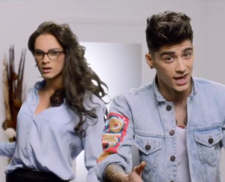 Zayn Malik and his female counterpart in the 'Best Song Ever' music video
