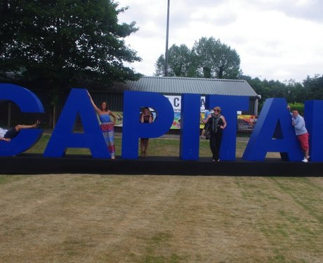 Check out the crowd next to our Capital letters at