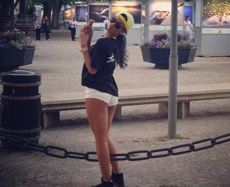 Rihanna shares a snap of herself in the park