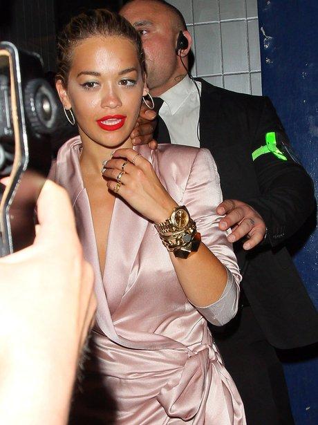 Rita Ora on a night out