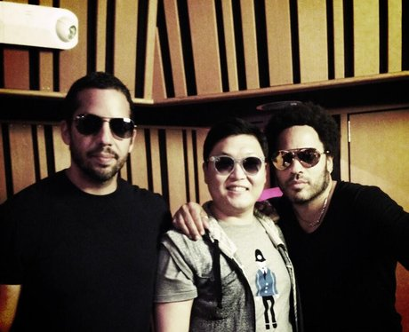 PSY, Lenny Kravitz and David Blaine together