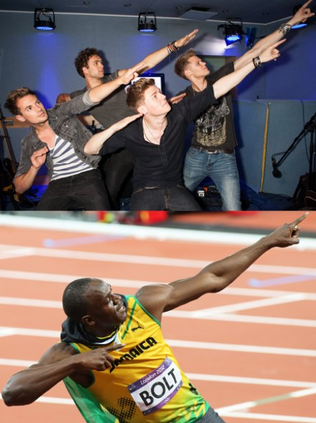 Usain Bolt and Lawson