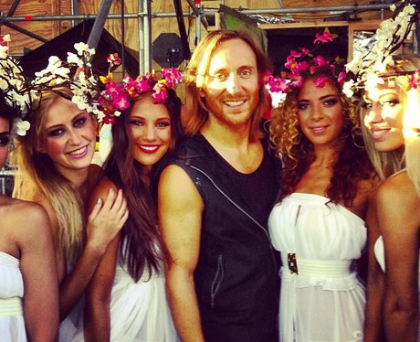 David Guetta on instagram with four women