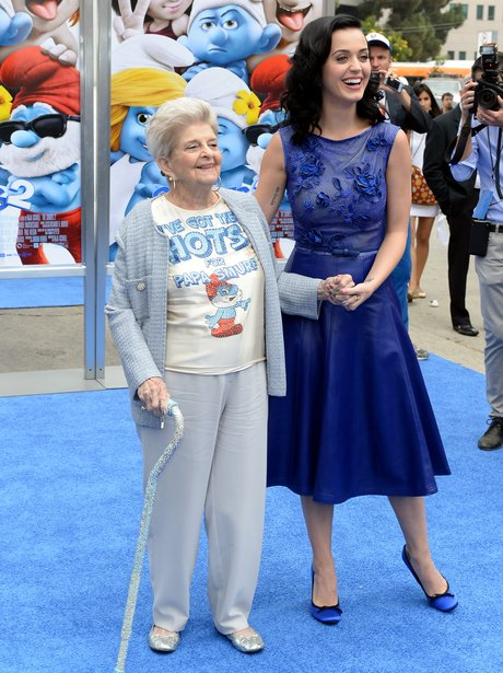 Katy Perry with her grandma