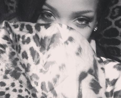 Rihanna on a plane