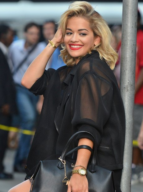 Rita Ora during a photoshoot in New York for DKNY