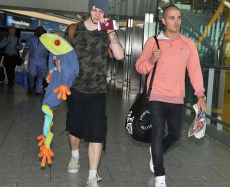 The Wanted at Heathrow airport