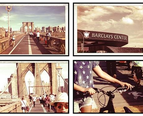 Beyonce riding her bike