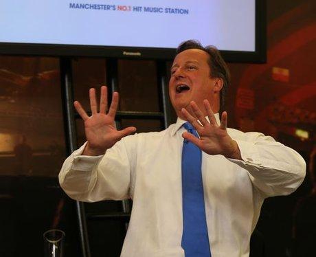 Prime Minister David Cameron visits Capital FM