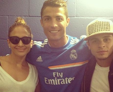 J-Lo and Cristiano Ronaldo