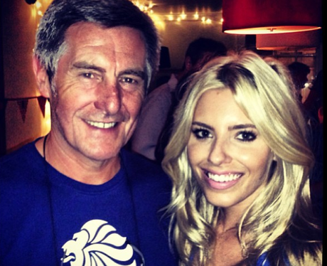 Mollie King with her dad