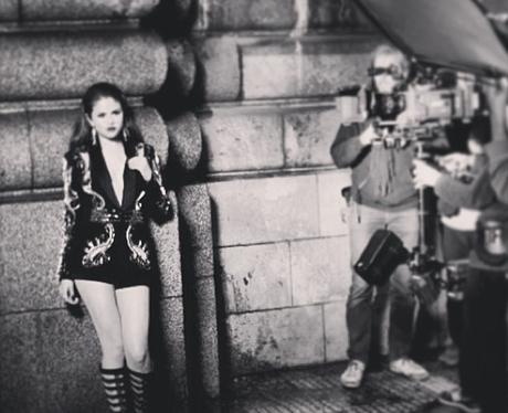 Selena Gomez behind the scenes on video