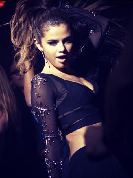 Selena Gomez video shoot
