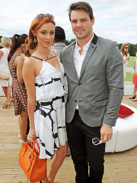 Una Healy and Ben Foden at Polo match