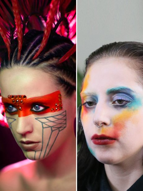 Katy Perry and Lady Gaga: Face Paint