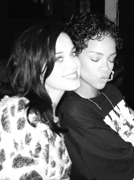 Katy Perry and Rihanna pose for a selfie