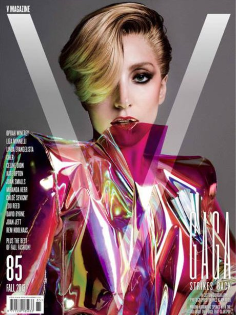 Lady Gaga on the cover of V Magazine