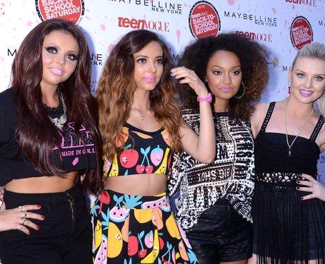 Little Mix backstage at a Teen Vogue event