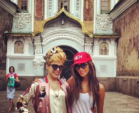 Nicole Scherzinger and Paloma Faith