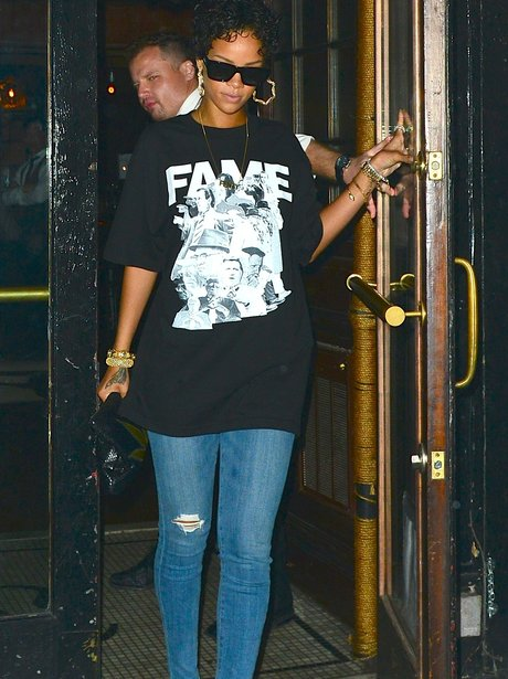 Rihanna leaves Katy Perry's album launch party