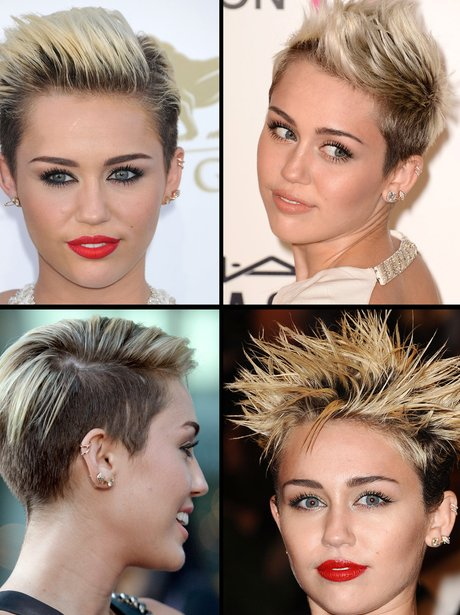 2 Miley Cyrus Pop Gets Cropped Celebrities With Short