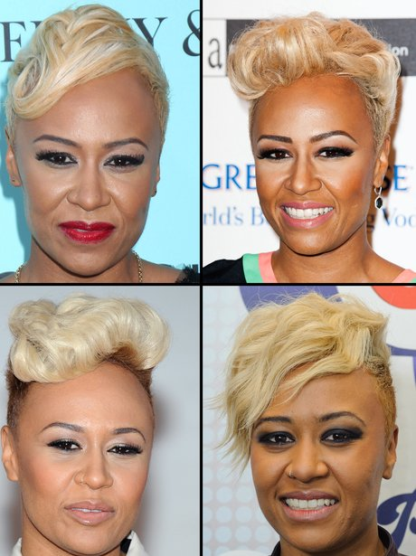 Emeli Sande showing off short hair