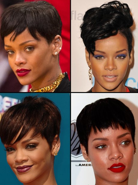 Rihanna shows off her short hair