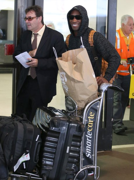 Tinie Tempah arrives at LAX airport