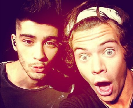 Harry Styles and Zayn Malik Instagram